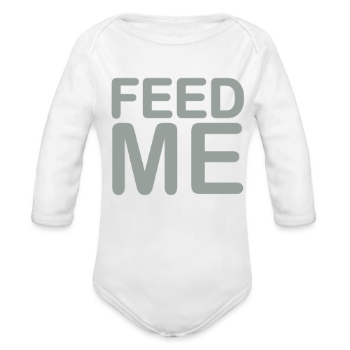 Feed ME - Organic Long Sleeve Baby Bodysuit