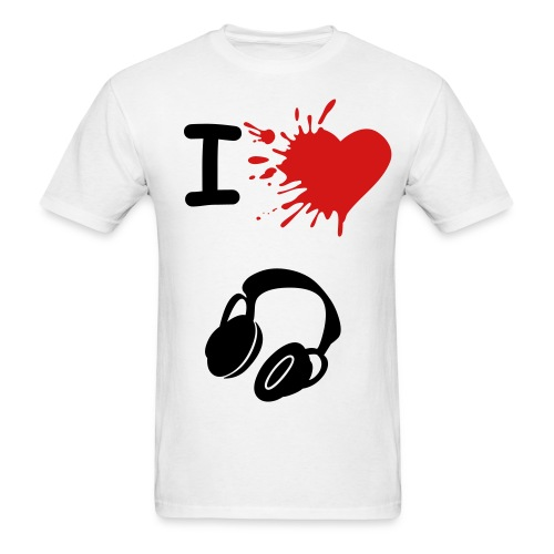 I Heart Headphones - Men's T-Shirt