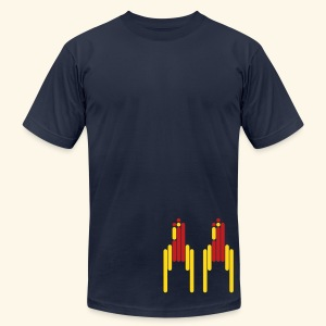 Scanline_Rockets - Men's T-Shirt by American Apparel