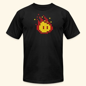 Scanline_Fireball - Men's T-Shirt by American Apparel