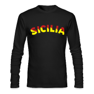 Long Sleeve Shirts ~ Men's Long Sleeve T-Shirt by Next Level ~ SICILIA AA Long Sleeve T, Black
