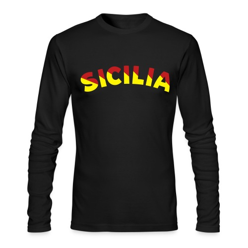 SICILIA AA Long Sleeve T, Black - Men's Long Sleeve T-Shirt by Next Level