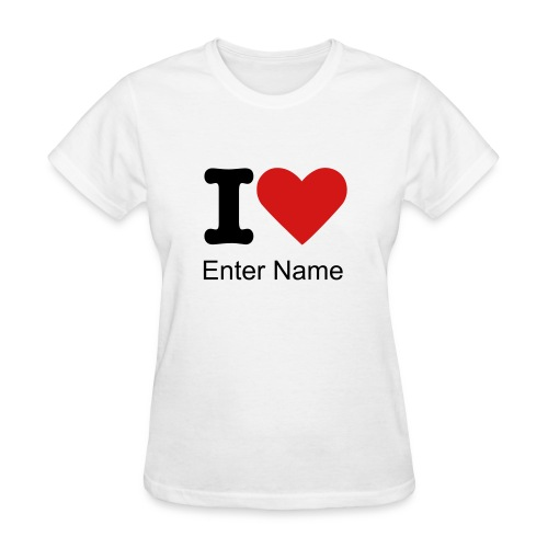 Customized I Love Classic Tee - Women's T-Shirt
