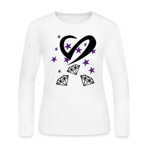 Hearts & Diamonds - Women's Long Sleeve Jersey T-Shirt