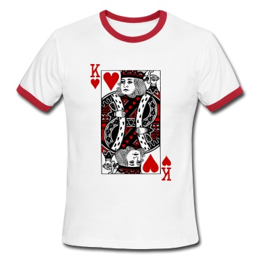 White/red king of hearts T-Shirts
