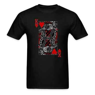 Black king of hearts T-Shirts
