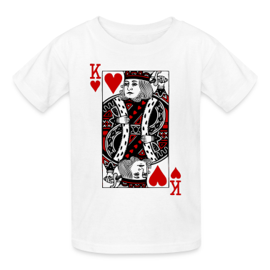 White king of hearts Kids Shirts