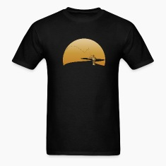 Black fly fishing fisherman T-Shirts