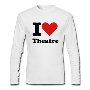 I Heart Theatre - Men's Long Sleeve T-Shirt by Next Level