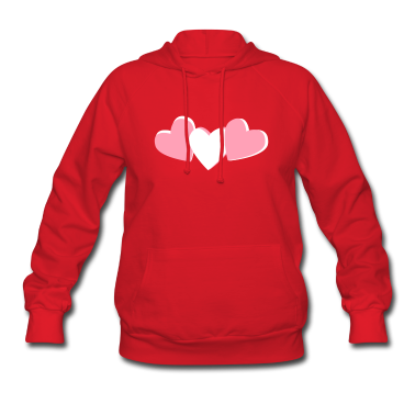 Red heart candy, valentines day design Hooded Sweatshirts