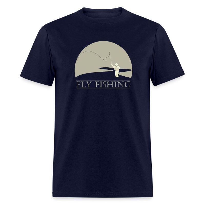 Fly fisherman 2 fly fishing shirt design t shirt spreadshirt for Fly fishing shirt