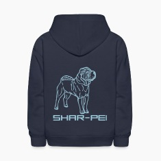 Navy sharpei00042 Sweatshirts