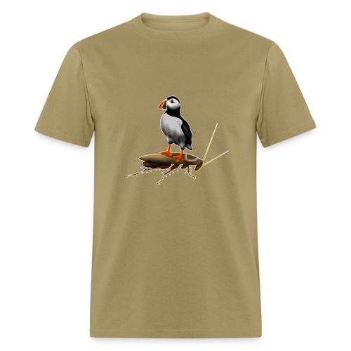 Puffin on a Roach - Men's T-Shirt