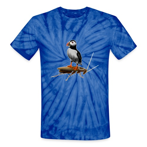 Puffin on a Roach - Unisex Tie Dye T-Shirt
