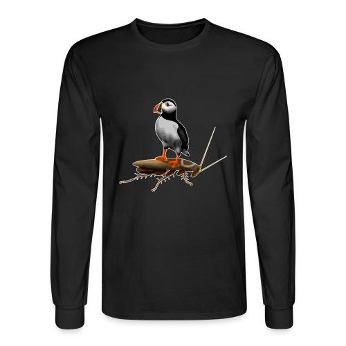 Puffin on a Roach - Men's Long Sleeve T-Shirt