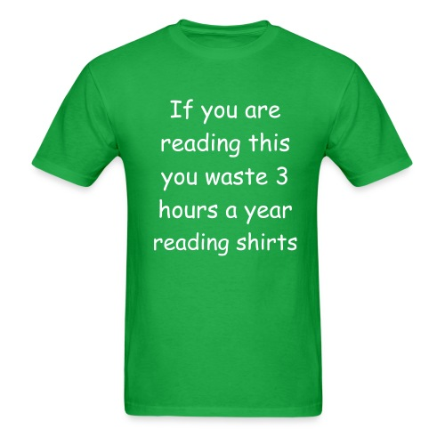 Waste time- green - Men's T-Shirt