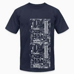 Navy Computer Design T-Shirts
