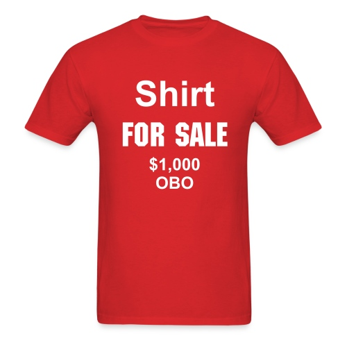 For Sale- red - Men's T-Shirt