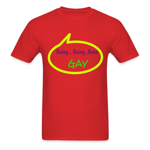 Going Gay Callout Red - Men's T-Shirt