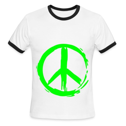 Creature Wear- Men's Lightweight AA Ringer Tee Peace - Men's Ringer T-Shirt