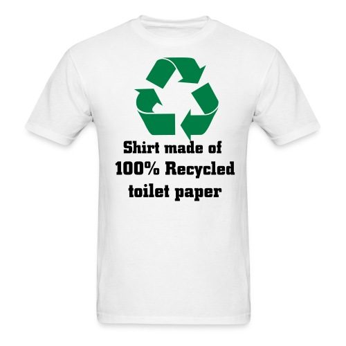Recycled- white - Men's T-Shirt