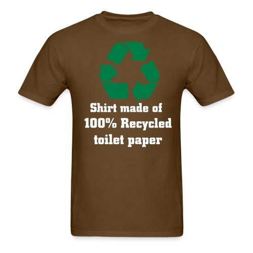 Recycled- brown - Men's T-Shirt