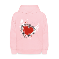Sweatshirts ~ Kids' Hoodie ~ Heart & Wings Design