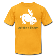 T-Shirts ~ Men's T-Shirt by American Apparel ~ Critter Form