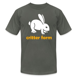 Critter Form - Men's T-Shirt by American Apparel