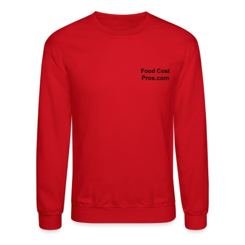 Food Cost Pros.com Red Sweatshirt - Crewneck Sweatshirt