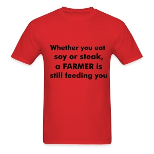 soy or steak - Men's T-Shirt