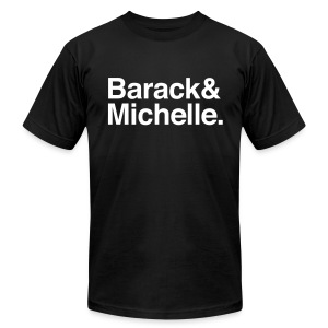 Barack & Michelle Obama - Men's T-Shirt by American Apparel