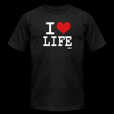 Black i love life by wam T-Shirts
