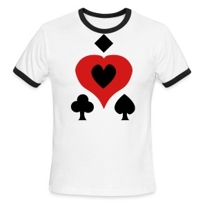 Playing Card Shapes - Men's Ringer T-Shirt