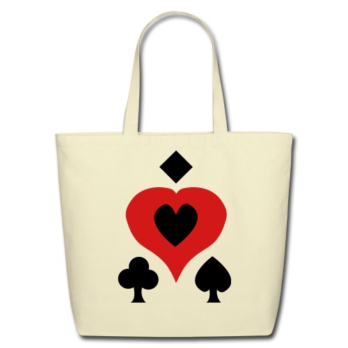 Playing Card Shapes - Eco-Friendly Cotton Tote