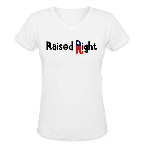 Right wing - Women's V-Neck T-Shirt