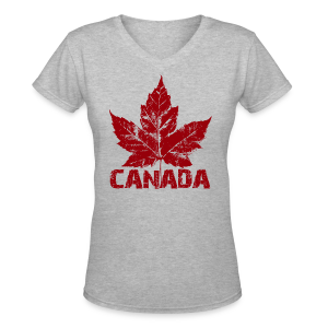 Women's Cool Canada T-shirt Canada Souvenir Shirt - Women's V-Neck T-Shirt