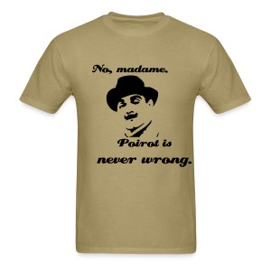 Poirot with quote - Men's T-Shirt