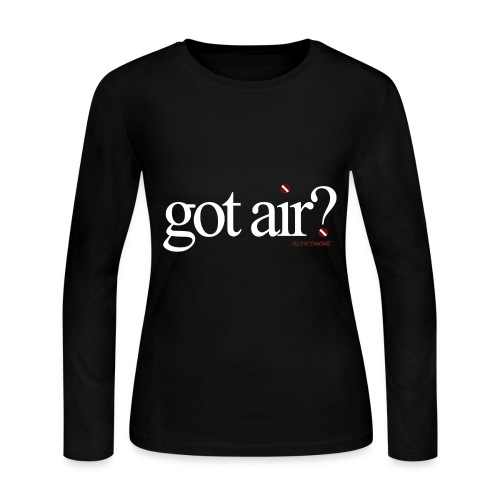 Got Air ? Long Sleeve - Black - Women's Long Sleeve Jersey T-Shirt