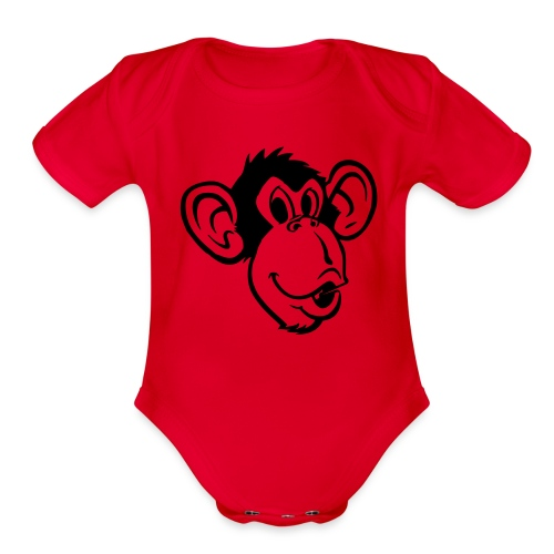 Monkey-face One size - Organic Short Sleeve Baby Bodysuit