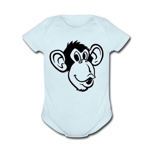 Monkey-face One size - Organic Short Sleeve Baby Bodysuit