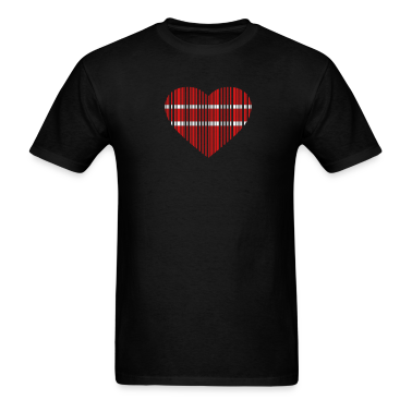 Black barcode love 2c T-Shirts