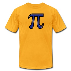 YellowIbis.com 'Mathematics Symbols' Men's / Unisex American Apparel T: Pi Symbol (Color choice) - Men's T-Shirt by American Apparel