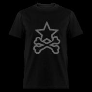 T-Shirts ~ Men's T-Shirt ~ Star&CrossBones (Men's Black)