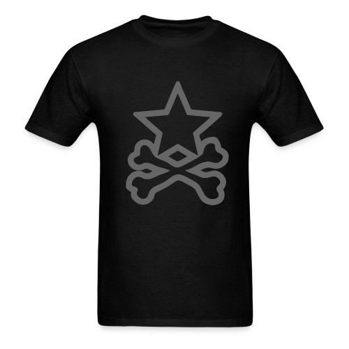 Star&CrossBones (Men's Black) - Men's T-Shirt