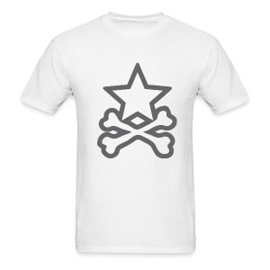 Star&CrossBones (Men's White) - Men's T-Shirt