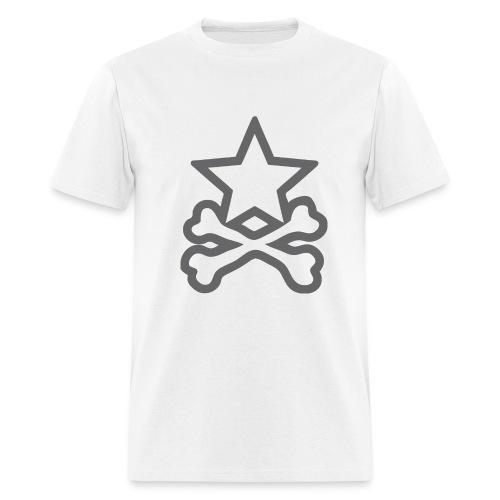 Star&CrossBones (Men's White) - Men's T-Shirt