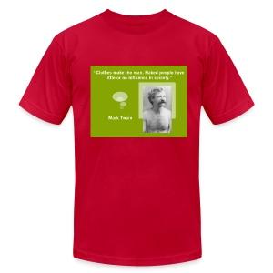 Mark Twain's Clothes Quote - Men's Fine Jersey T-Shirt