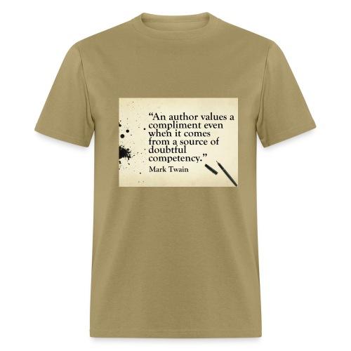 Mark Twain Author Compliment Quote T-Shirt - Men's T-Shirt