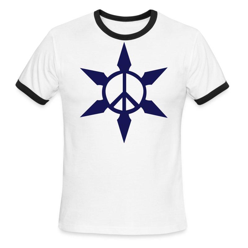Peace Ninja Star - Men's Ringer T-Shirt
